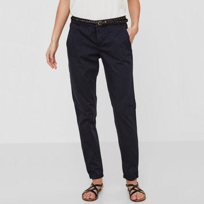 Pantaloni chino taglio dritto, puro cotone Pantaloni chino taglio dritto, puro cotone VERO MODA