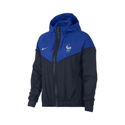 52393ef03c394 Veste à capuche FFF Nike Windrunner Bleu Femme Veste à capuche FFF Nike  Windrunner Bleu Femme