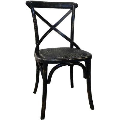 Chaise bistrot noire en solde la redoute for Chaise bistrot solde