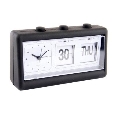 Réveil Calendrier noir 19 cm Réveil Calendrier noir 19 cm UNITED LABELS