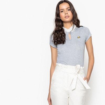 T-shirt col claudine en dentelle, manches courtes La Redoute Collections