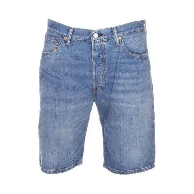 6ca99189d38b0 Short en jean Levis 501 Hemmed Livin Easy en coton clair Short en jean  Levis 501. Soldes