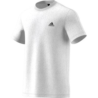 T-shirt lisa com gola redonda, mangas curtas T-shirt lisa com gola redonda, mangas curtas ADIDAS PERFORMANCE