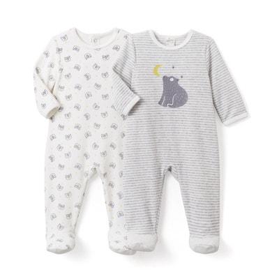 Pyjama velours imprimé (lot de 2)- Oeko Tex Pyjama velours imprimé (lot de 2)- Oeko Tex La Redoute Collections