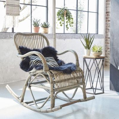 Rocking chair vintage en rotin  |  VDL Rocking chair vintage en rotin  |  VDL MADE IN MEUBLES