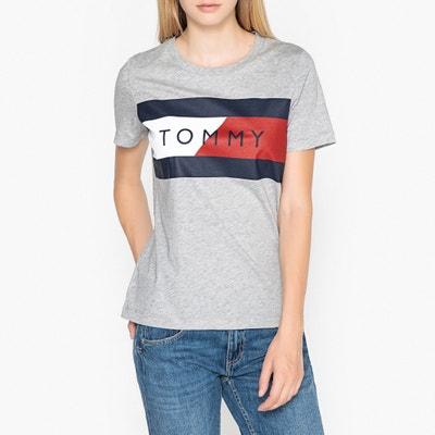 T-shirt met ronde hals en print vooraan T-shirt met ronde hals en print vooraan TOMMY HILFIGER