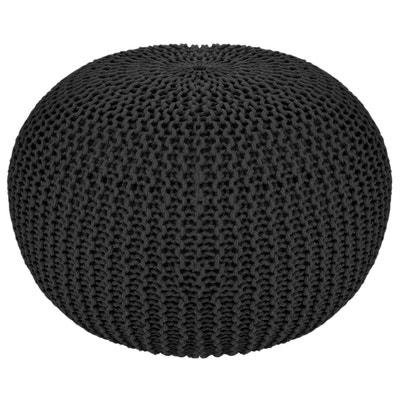 pouf gris en solde la redoute. Black Bedroom Furniture Sets. Home Design Ideas
