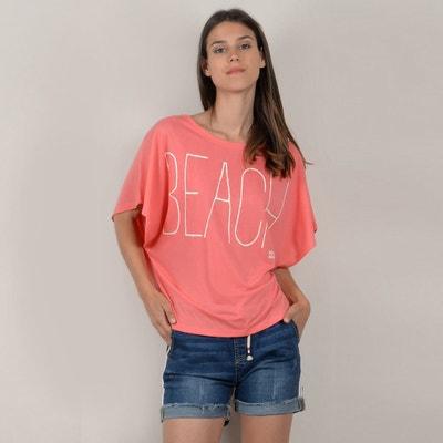 'Beach' Slogan T-Shirt MOLLY BRACKEN