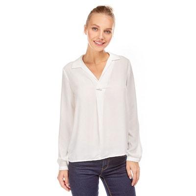 Blouse col chemise ouvert avec barrette décorative BEST MOUNTAIN c5b51015ac5d
