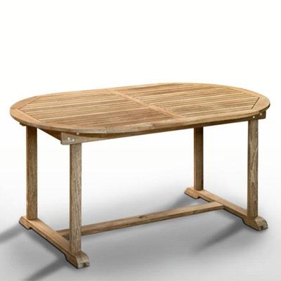 Table teck, 6 à 10 places, 1 allonge repliable Table teck, 6 à 10 places, 1 allonge repliable La Redoute Interieurs