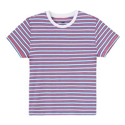Stripe Print Crew Neck T-Shirt LEE