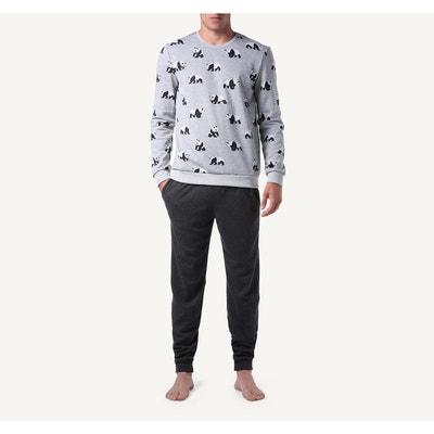 Pyjama  long all-over panda jacquard Pyjama  long all-over panda jacquard Intimissimi