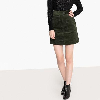 High Waisted Corduroy Mini Skirt High Waisted Corduroy Mini Skirt La Redoute Collections