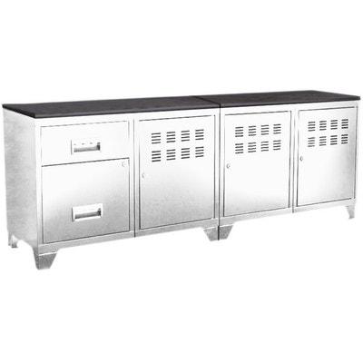 meuble tele noir et blanc en solde la redoute. Black Bedroom Furniture Sets. Home Design Ideas