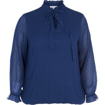 Langärmelige Bluse mit Schleife, unifarben Langärmelige Bluse mit Schleife, unifarben ZIZZI