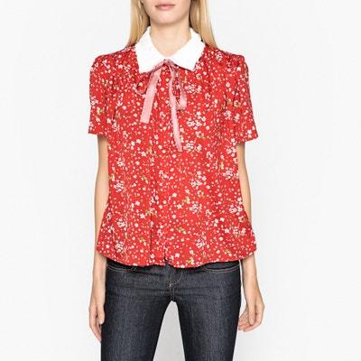 Camisa estampada com laço, mangas curtas Camisa estampada com laço, mangas curtas SISTER JANE