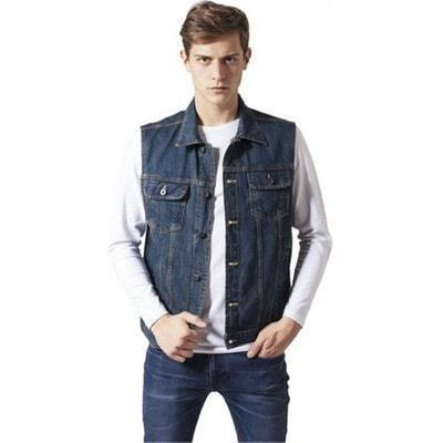 Très bien Veste en jean sans manche homme en solde | La Redoute #UQ_34