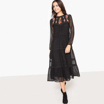 Платье в богемном стиле с цветочной вышивкой и оригинальной спиной Платье в богемном стиле с цветочной вышивкой и оригинальной спиной La Redoute Collections