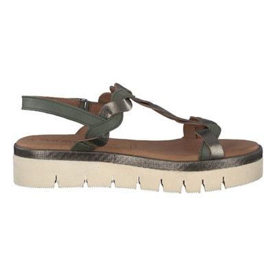 Pub Flat Leather Sandals Pub Flat Leather Sandals TAMARIS