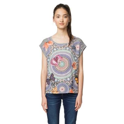 Tee shirt  col rond manches courtes imprimé DESIGUAL