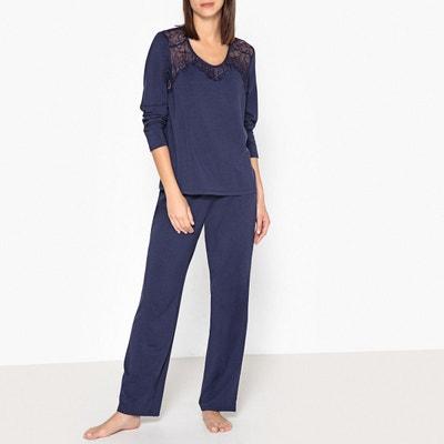 Pyjama modal et dentelle La Redoute Collections