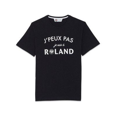 T-shirt col rond J'peux pas je suis à Roland T-shirt col rond J'peux pas je suis à Roland ROLAND GARROS