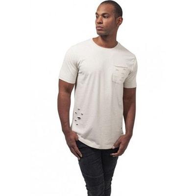 b548758a183fc T-shirt effet déchiré avec poche T-shirt effet déchiré avec poche URBAN  CLASSICS