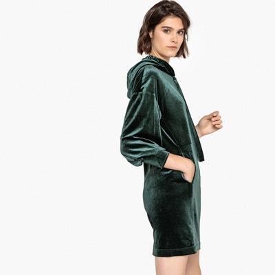 Robe style sweat en velours, avec capuche Robe style sweat en velours, avec capuche LA REDOUTE COLLECTIONS