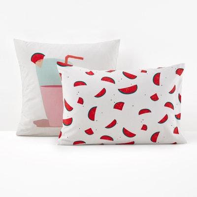 Pastèques Printed Single Pillowcase La Redoute Interieurs