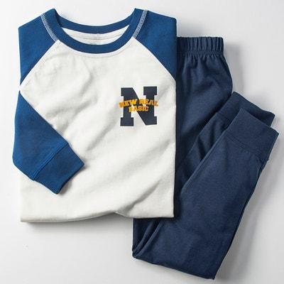 Pijama em algodão, estampado, 3 - 12 anos Pijama em algodão, estampado, 3 - 12 anos La Redoute Collections