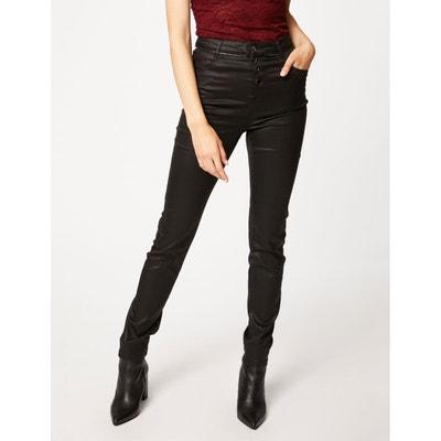 Pantalon effet cuir détails zips MORGAN
