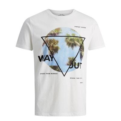 Camiseta con cuello redondo, motivo delante JACK & JONES
