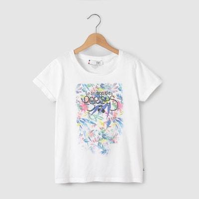 T-shirt com estampado flores 8-16 anos T-shirt com estampado flores 8-16 anos LE TEMPS DES CERISES