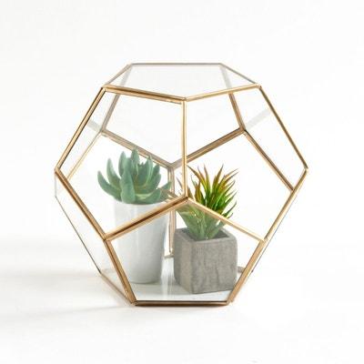Terrarium en verre et métal, Uyova Terrarium en verre et métal, Uyova LA REDOUTE INTERIEURS