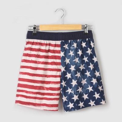 Shorts da bagno fantasia bandiera USA 10-16 anni Shorts da bagno fantasia bandiera USA 10-16 anni La Redoute Collections