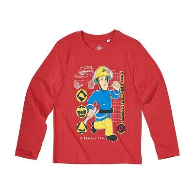 31eaf1fc6c971 Tee-shirt Manches Longues Garçon Tee-shirt Manches Longues Garçon SAM LE  POMPIER