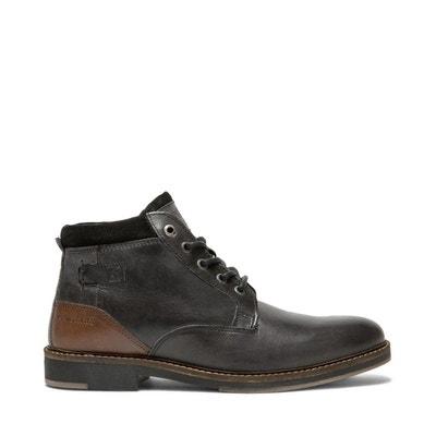 Boots Croûte velours, Cuir TIRAN