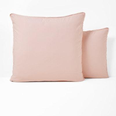 Perkalowa poszewka na poduszkę z pranej bawełny AMEY La Redoute Interieurs