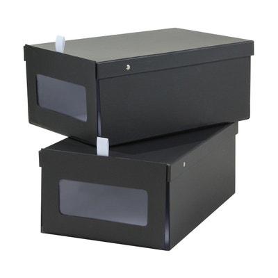 Boîte de rangement pour chaussure avec vitre - lot de 2 CASAME e9054cd8d9fd
