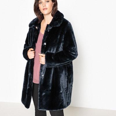 Manteau droit en fausse fourrure CASTALUNA