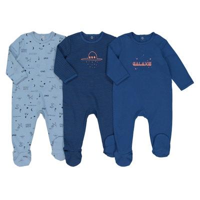 Confezione da 3 pigiami a 1 pezzo tema Cosmico, 0-3 anni Confezione da 3 pigiami a 1 pezzo tema Cosmico, 0-3 anni La Redoute Collections