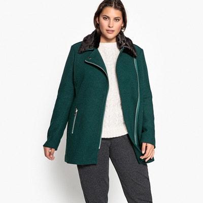 e36e06c227098 Manteau court en drap de laine, fermeture zippée Manteau court en drap de  laine,
