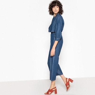 Combinaison pantalon 7/8 en denim MADEMOISELLE R