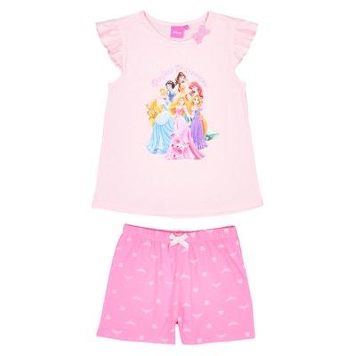 Pijama con short 2 prendas, 2 - 8 años DISNEY PRINCESS