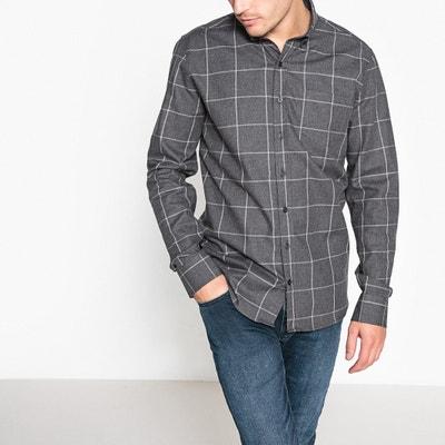 Camisa estampada aos quadrados, mangas compridas Camisa estampada aos quadrados, mangas compridas La Redoute Collections
