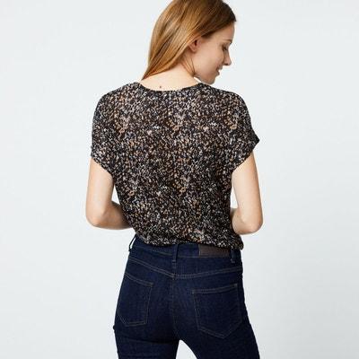Tshirt en lin manches courtes imprimé Tshirt en lin manches courtes imprimé  MONOPRIX 27a1ecb8d53e