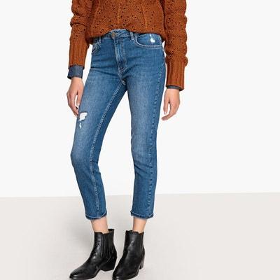 Jean slim effet usé, raccourci taille standard Jean slim effet usé,  raccourci taille standard. Soldes. LA REDOUTE COLLECTIONS 2ee12777abd6