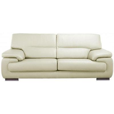 canape cuir blanc la redoute. Black Bedroom Furniture Sets. Home Design Ideas