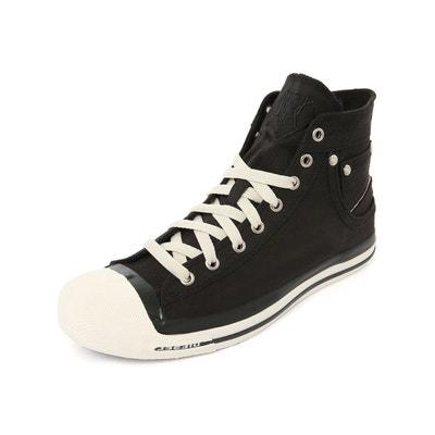 Sneakers montantes cuir noir exposure 2 pour homme  noir Diesel  La Redoute