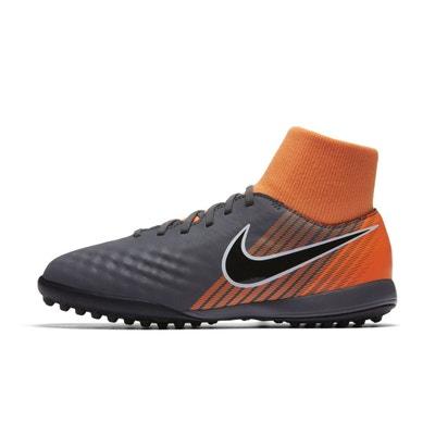 check out a3e67 5c88e Chaussures football Chaussure de Football Nike MagistaX Obra II Academy DF  TF Gris Orange Junior